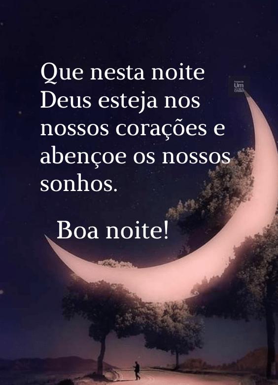 Boa noite que Deus abençoe nossos sonhos
