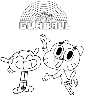 dupla desenho gumball