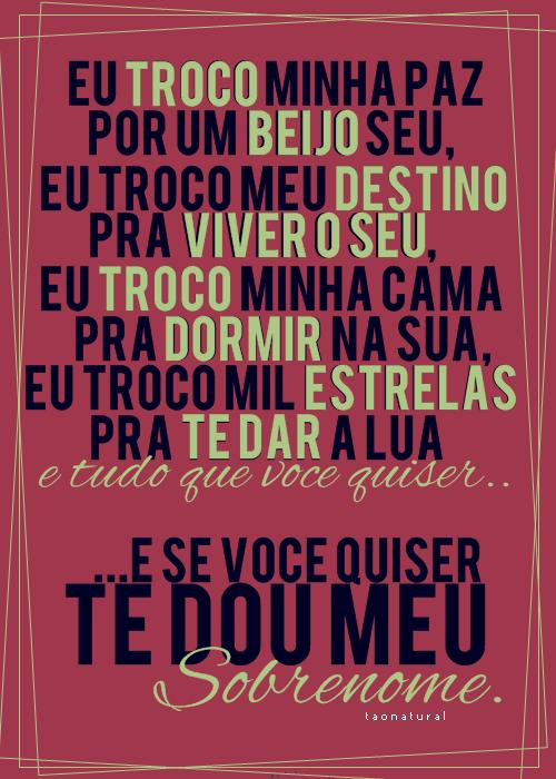 poesia com musica de Luan