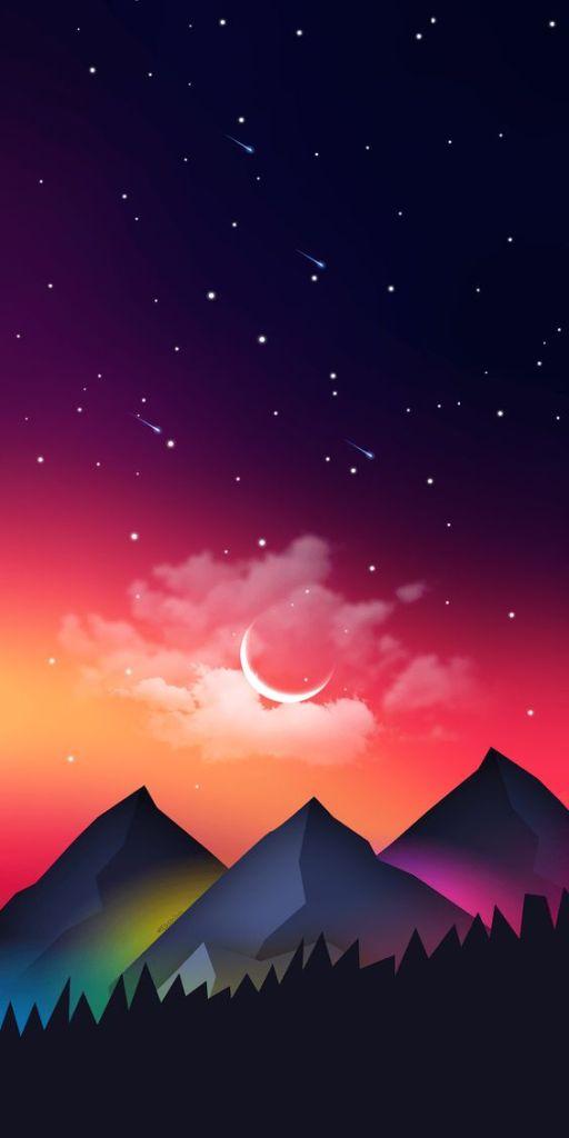 Papel de parede ilustração montanhas