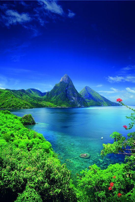 papel de parede paisagem mar e montanha