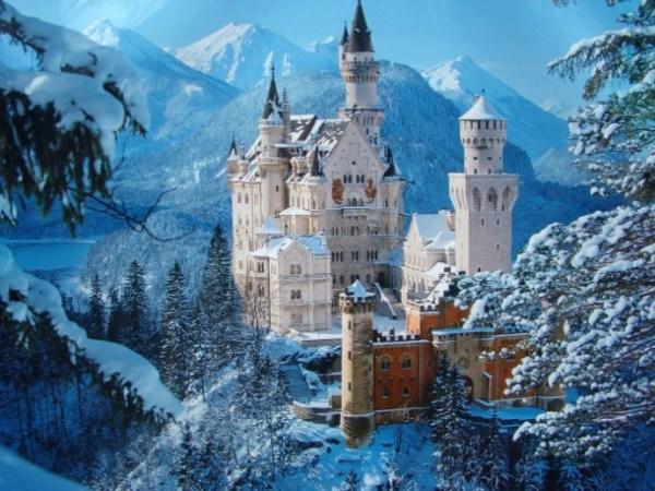 castelo em época de inverno