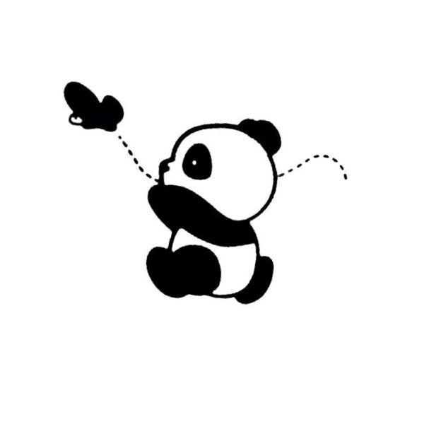 Desenho Kawaii do panda.