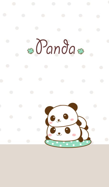Imagem de desenho dois pandas.