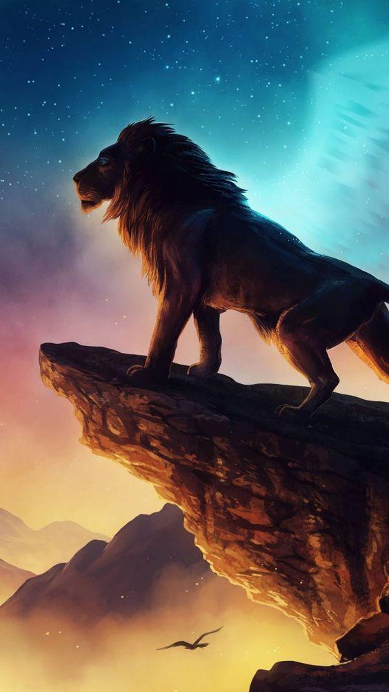Papel de parede leão