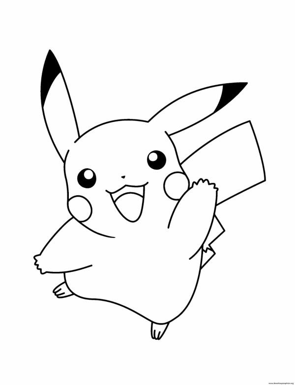 Desenho do pickachu para colorir