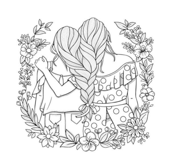 Desenho de amigas tumblr.