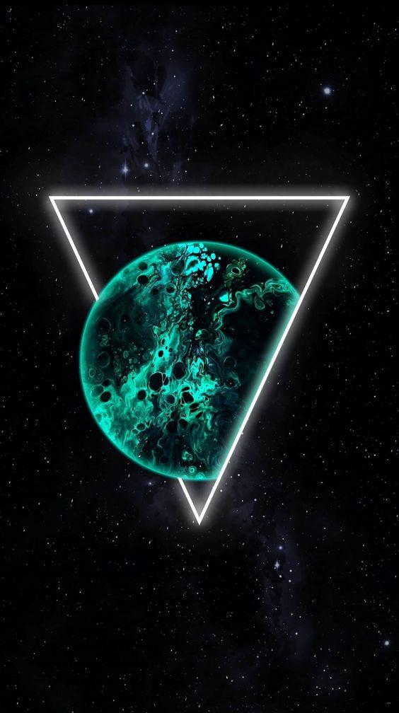 Papel de parede planeta com triângulo