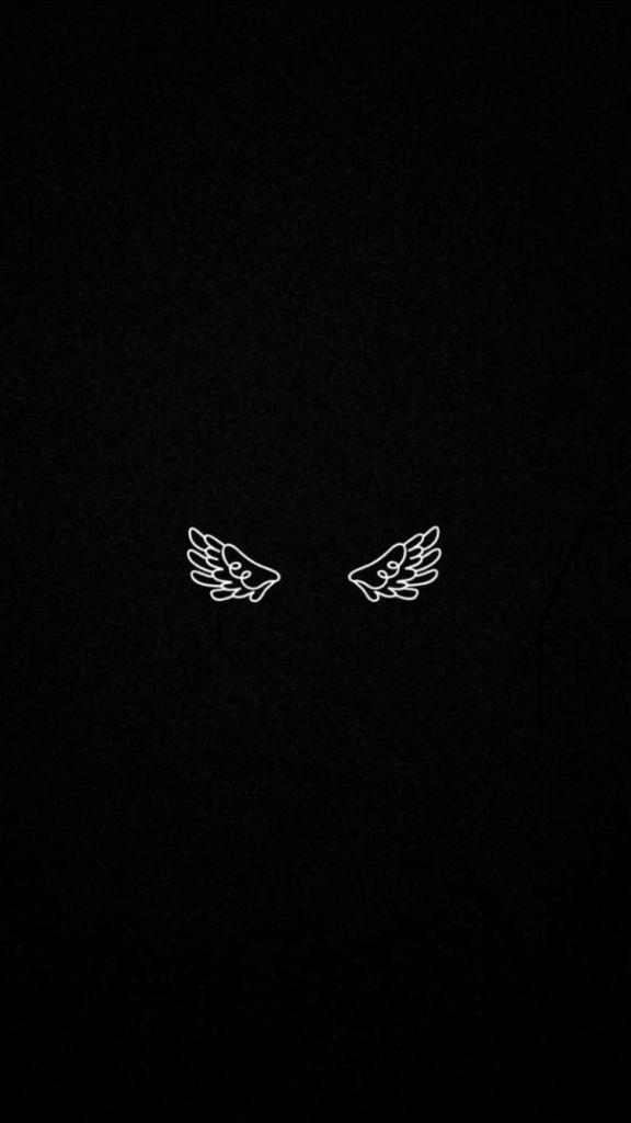 tela de bloqueio par de asas.
