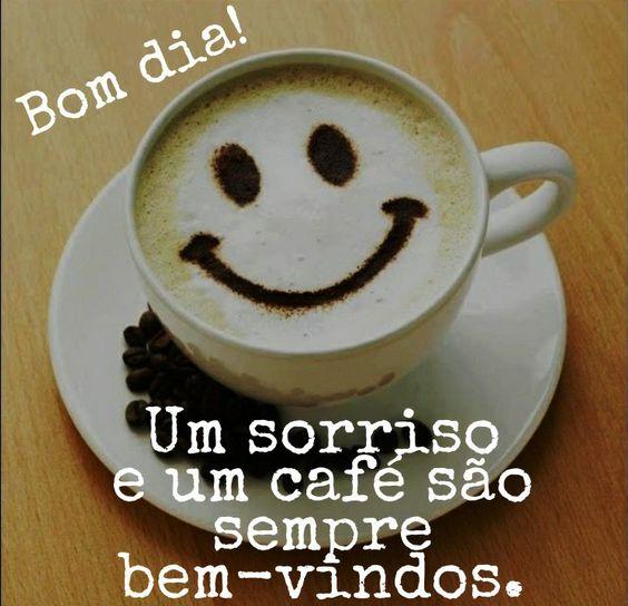 Bom dia com café.