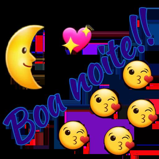 beijinho boa noite lua emoji