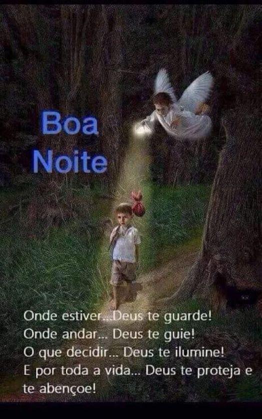 Boa noite Deus te guarde