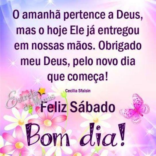 Bom dia sábado com Deus