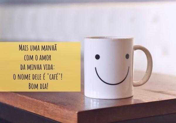 bom dia engraçado com café