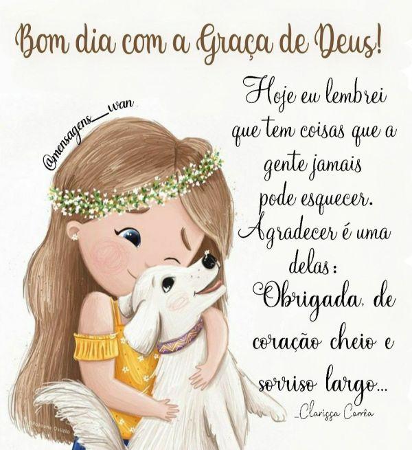 bom dia e animado com a graça de Deus