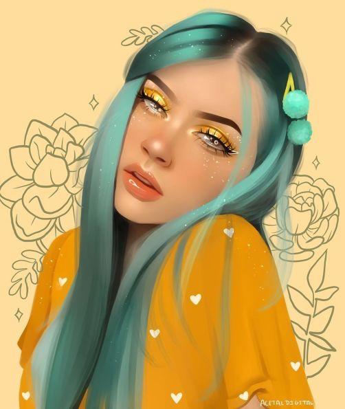 desenho realista colorido