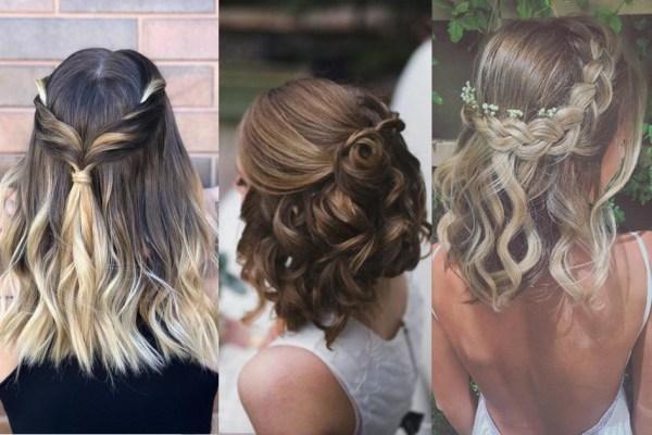 Modelos de penteados no cabelo médio