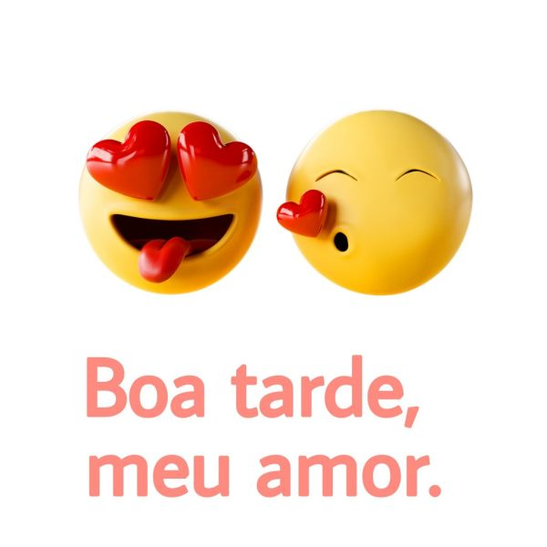 Emojis de boa tarde apaixonados.