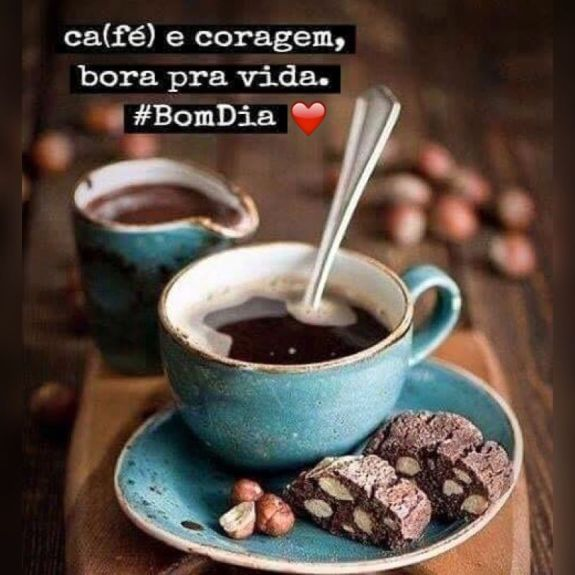 frase de bom dia com café