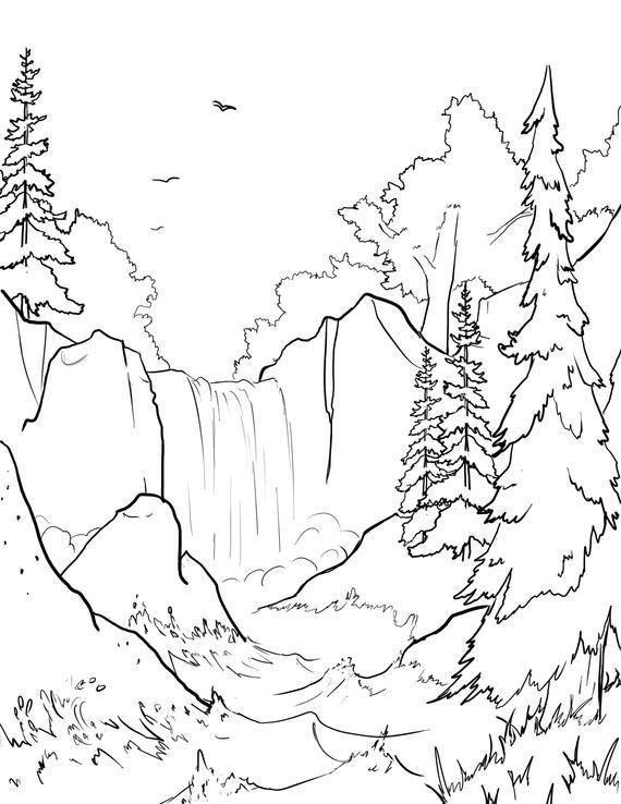 paisagem da natureza cachoeira