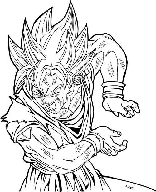 imagens de anime goku