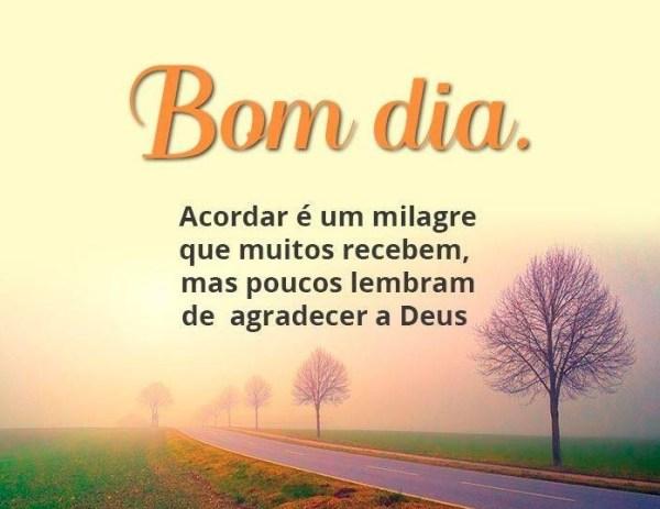 milagre de bom dia Evangélicas