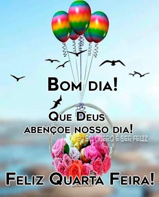 Bom dia quarta feira feliz de paz abençoada