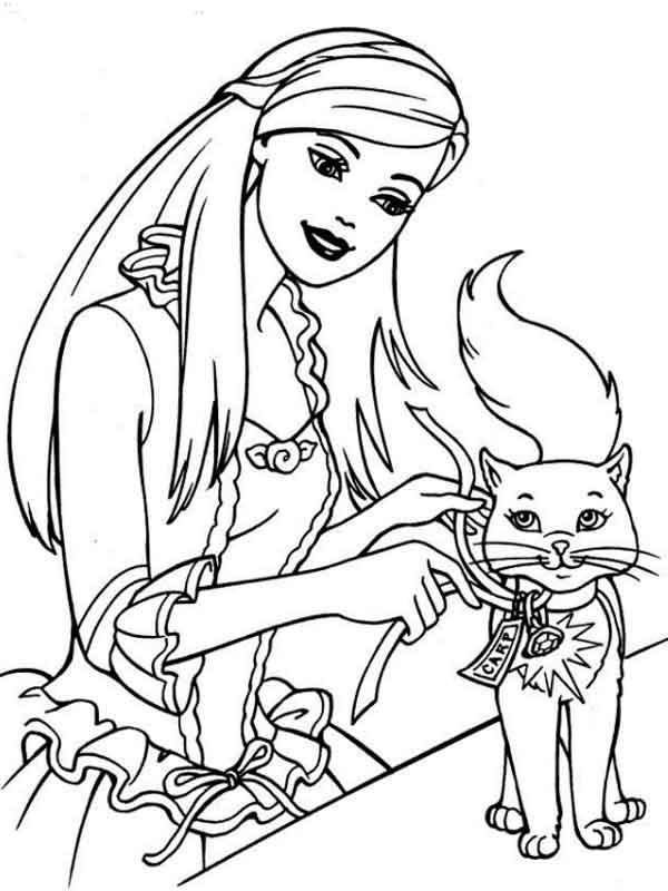 Desenho da barbie para imprimir