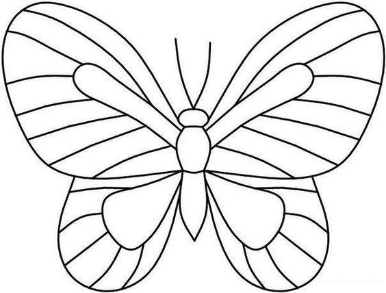 Imagens de borboletas para pintar