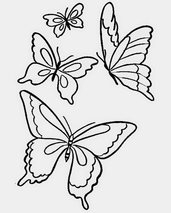 Lindas borboletas para baixar e colorir
