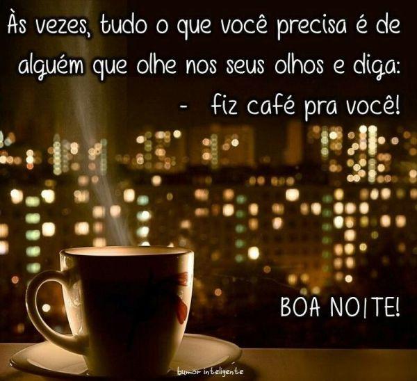 boa noite com café maravilhoso