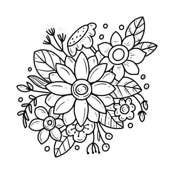 desenho de flores boas