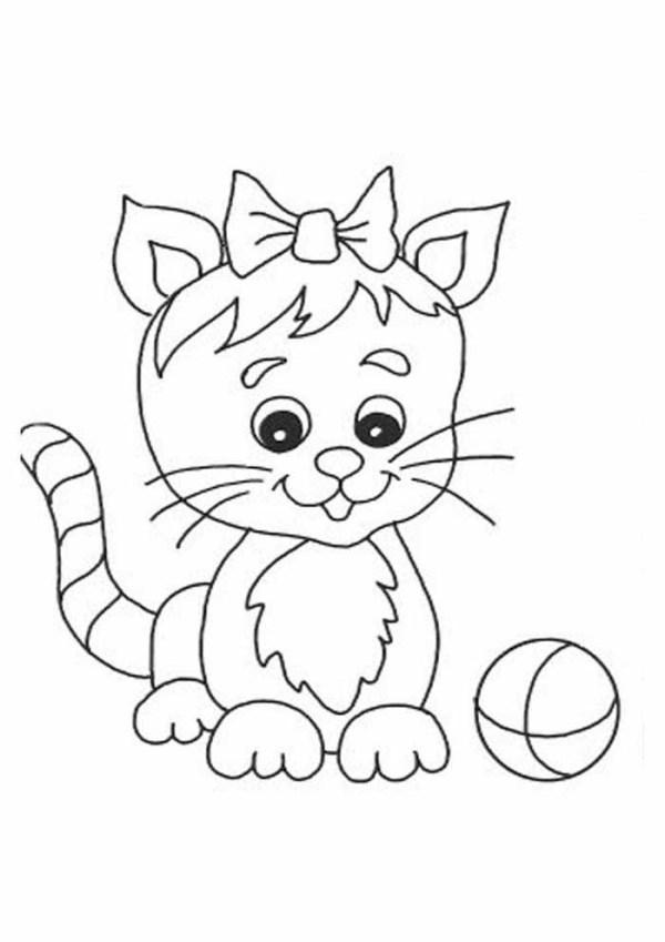 Imagens de gatinhos para baixar e colorir