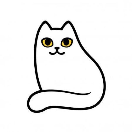 Desenho para colorir de gatinho simples