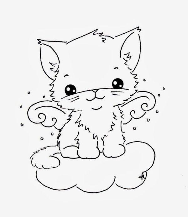 Foto de gatos muitos fofo para colorir