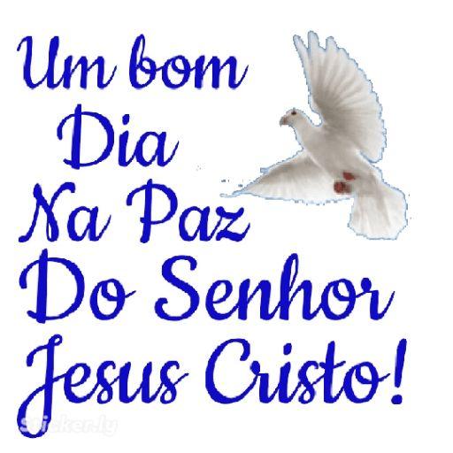 Um bom dia na paz do senhor Jesus