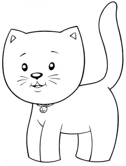 Imagens de gatos para criança pintar