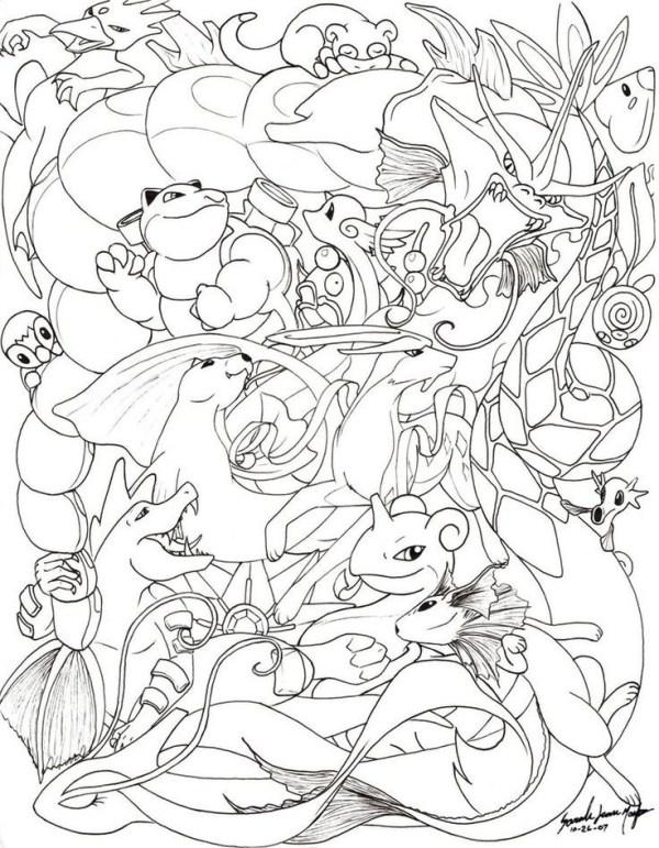 vários personagens do Pokémon