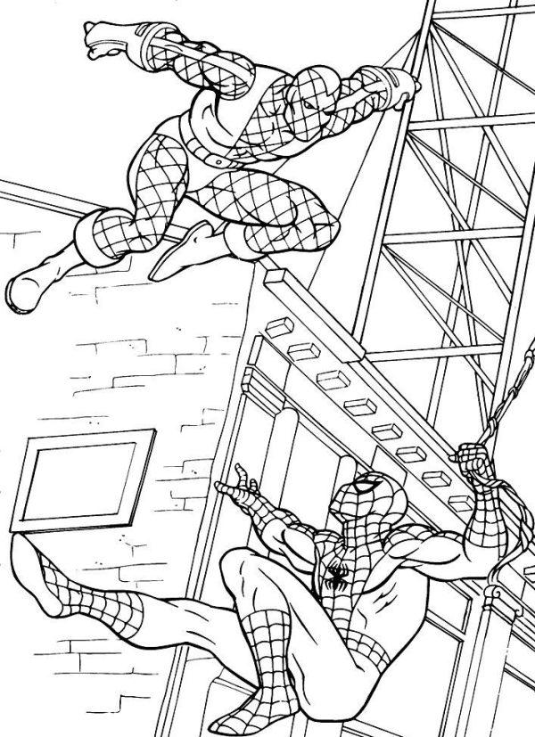 Desenhos do Homem aranha para pintar