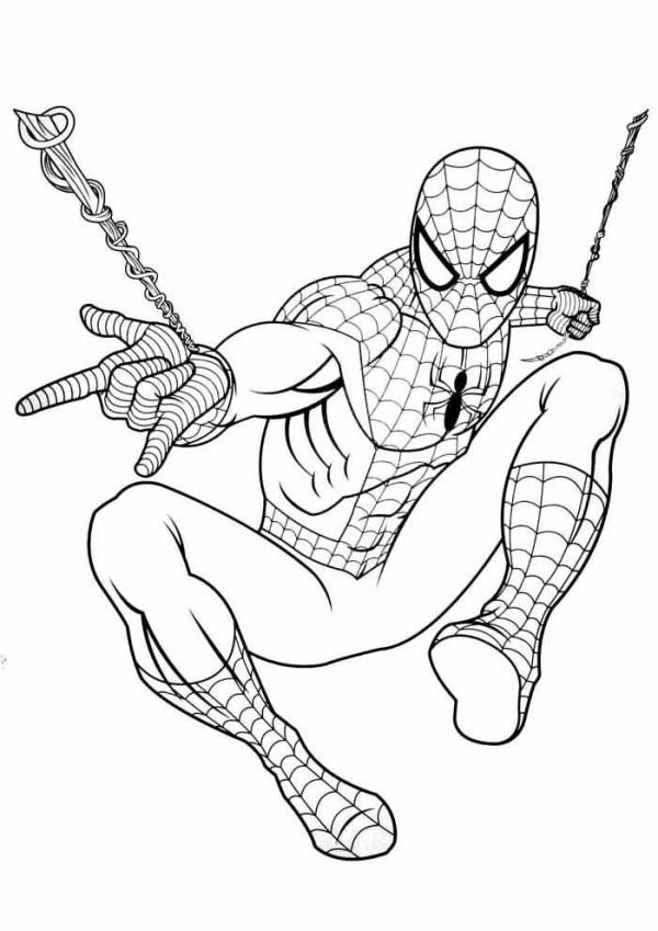Desenhos do Homem aranha com teias