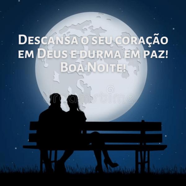 boa noite com Deus e durma em paz