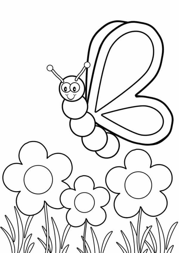 Desenho da borboleta para imprimir