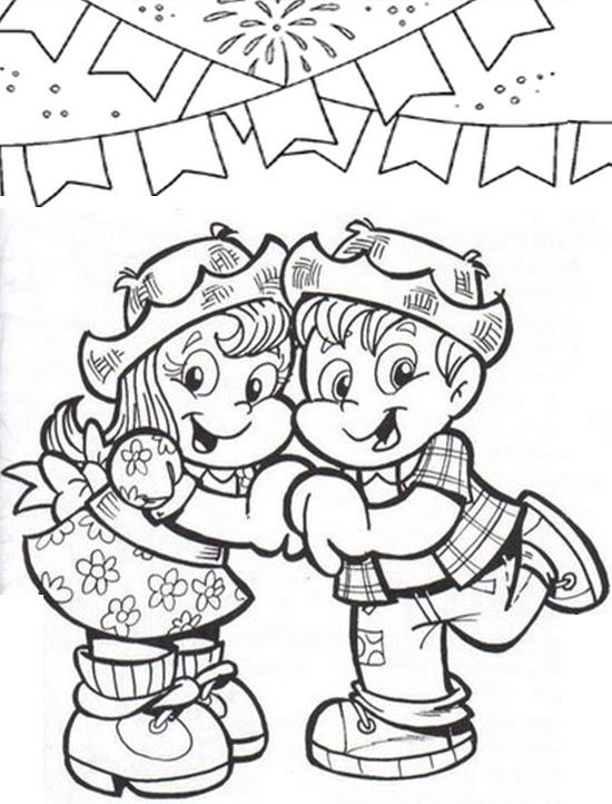 Desenhos de Festa junina para Imprimir