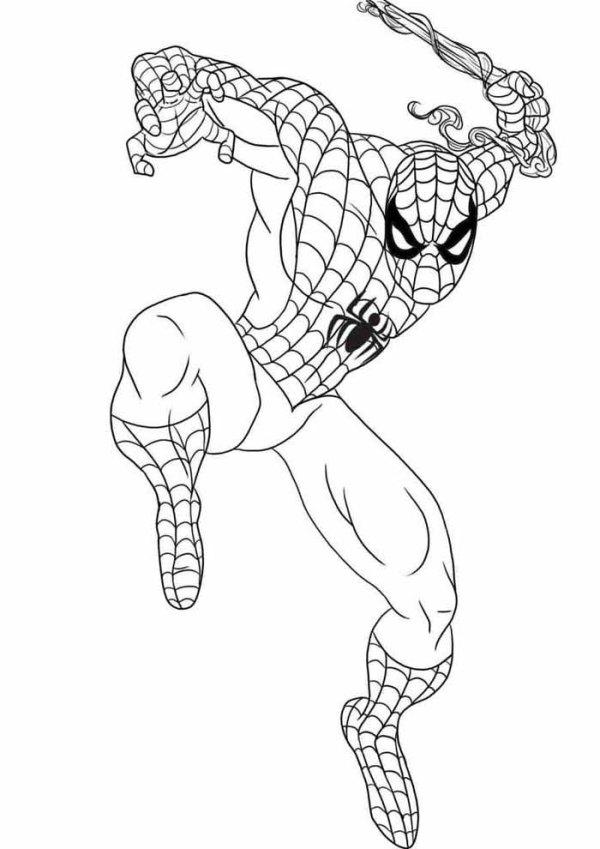Desenhos do Homem aranha ao crime