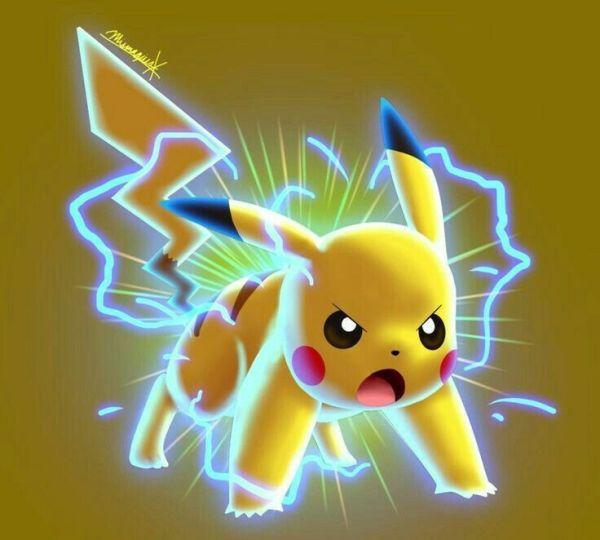 Desenho Pokémon do Pikachu com raiva