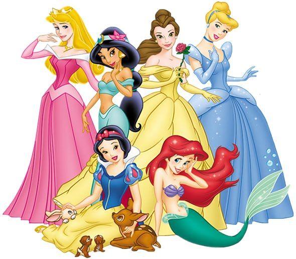 Princesas belíssimas coloridas