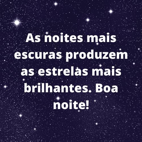 boa noite lua, estrelas e astros brilhantes