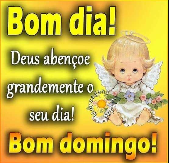 Bom dia Deus abençoe o Domingo