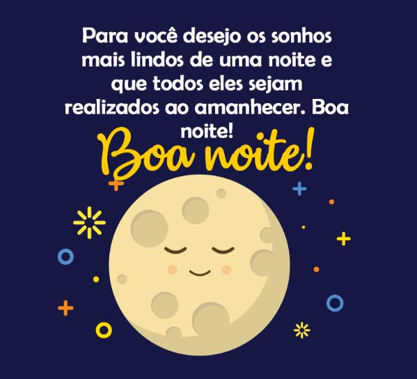 mensagem bela de boa noite