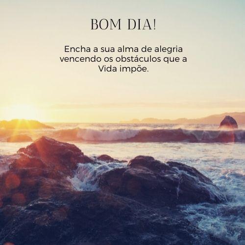 bom dia com sol com muita intensidade e paz no coração!